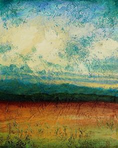 Abstract landscape painting acrylic painting by avaavadonstudio, $85.00