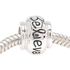 Sterling Silver 'Believe' Message Bead - Fits Pandora - 10.8mm (1)  http://electmejewellery.com/jewelry/charms/sterling-silver-39believe39-message-bead-fits-pandora-108mm-1-ca/