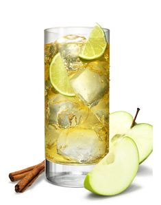 German Apple Strudel : 1.5 oz Smirnoff No.21,4 oz Apple juice,2 Lime wedges,pinch of Cinnamon