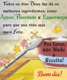 É verdade, bom dia! Breakfast Food List, Breakfast Recipes, Jesus Prayer, Oatmeal Smoothies, Day For Night, Summer Salads, Healthy Recipes, Cute Good Morning Messages, Good Morning Photos
