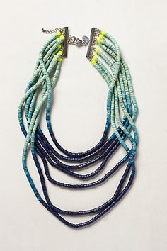 Ombre Beaded Necklace - anthropologie.com