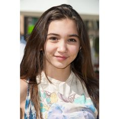 Girl Meets World's Rowan Blanchard Caught Off Guard By the Show's... ❤ liked on Polyvore featuring people and rowan blanchard