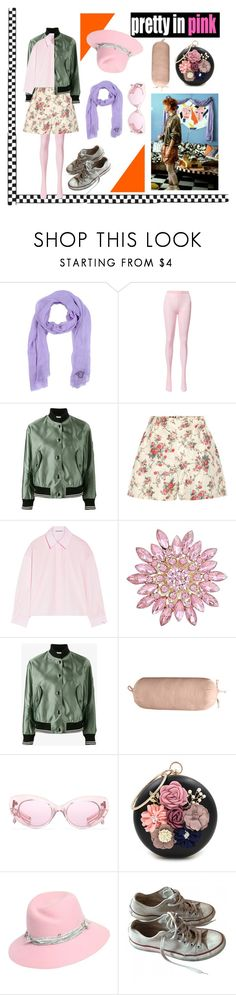"""""""Modern Pretty in pink"""" by maria-robinson-i on Polyvore featuring Versace, Miu Miu, Acne Studios, Pointehaven, WithChic, Maison Michel, Converse, modern, fun and movie"""