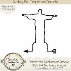 Christ the Redeemer Arrow, Christ the Redeemer, Arrow, setas, flecha, flechas, seta, setas, arrow, arrows, wild, selvagem, Christ, Redeemer, Arrow, Cristo Redentor, Cristo, Redentor, Rio, Rio de Janeiro, Brasil, Brazil, arquivo de recorte, corte regular, regular cut, svg, dxf, png, Studio Ilustrado, Silhouette, cutting file, cutting, cricut, scan n cut.