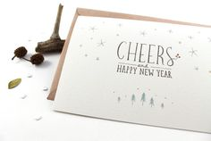 Cheers, Happy New Year - 10 Greeting Cards