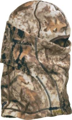 20 SALE 10 Keep your kid's head, neck and face concealed and warm with Cabela's Youth Ninja Balaclava. Wear in multiple positions for partial or full head, neck and face protection. Soft, quiet 300-gram fleece delivers superior warmth.  Camo patterns: Cabela's Zonz™ Woodlands, Blaze Orange.
