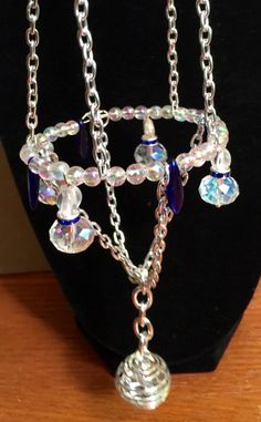 Small Crystal Chandelier necklace for your auto mirror by WendysSpace on Etsy