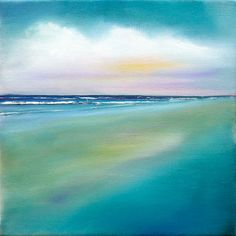 nancy hughes miller - modern coastal landscape. Such a lovely piece of art! #moderncoastal