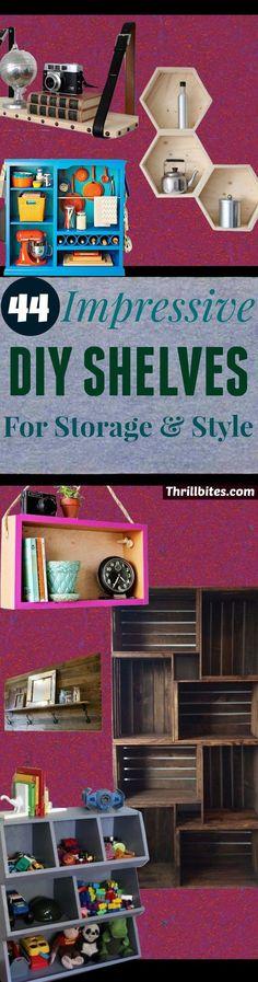 44-Impressive-DIY-Shelves.jpg (736×2800)