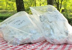 Tinfoil dinners for camping! Everyone knows that one of the worst things about camping is dealing with the food. What to bring? What dishes do we need? Do we need butter? Did I forget the salt? Well, here is a quick and easy solution! These can easily be prepared ahead of time, frozen. Pack in your cooler, and they will thaw out, safely.