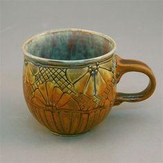 Cups--mary cuzick, cuzickpottery.com