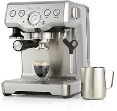 Breville ® Infuser Espresso Machine in Espresso Makers Breville Espresso Machine, Italian Espresso Machine, Espresso Machine Reviews, Best Espresso Machine, Cappuccino Machine, Espresso Maker, Coffee Maker, Cafe Barista, Italian Coffee
