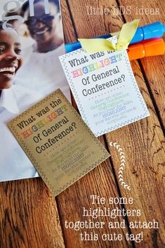 May 2016 Visiting Teaching Idea: General Conference HighlightersLittle LDS Ideas