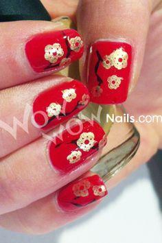 Cherry Tree Nails - Uñas árbol de cerezo