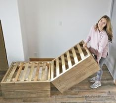 Ana White | Twin Sleeper Chair - DIY Projects Twin Sleeper Chair, Chair Bed, Diy Chair, Swivel Chair, Diy Furniture Projects, Pallet Furniture, Home Projects, Diy Sofa, Futon Sofa Cama