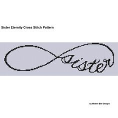 Sister Eternity ... by Motherbeedesigns | Embroidery Pattern - Looking for your next project? You're going to love Sister Eternity Cross Cross Stitch Patte by designer Motherbeedesigns. - via @Craftsy