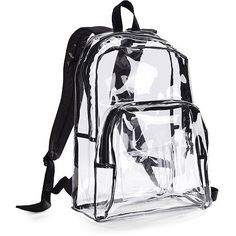 The black lining around a transparent backpack looks so cool. Its easy to transport, sturdy and looks great. The records would not be very supported because it is not tightly packed