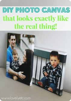 DIY photo canvas that looks just like the real thing - with real canvas texture and wrapped edges