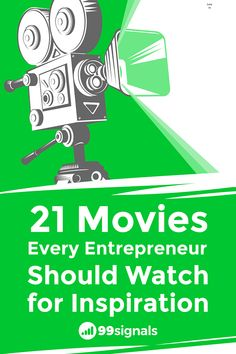 Entrepreneurs, like most people, need inspiration from time to time. Here are 21 inspiring movies every entrepreneur should watch. Thought Provoking Movies, Startup Branding, Startup Office, Startup Quotes, Inspirational Movies, Good Movies To Watch, Joy And Happiness, Start Up Business, Startups