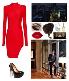 """""""00266."""" by annacastrolima ❤ liked on Polyvore featuring Christian Louboutin, Lime Crime, GET LOST, Amanda Rose Collection, Effy Jewelry and Christian Dior"""