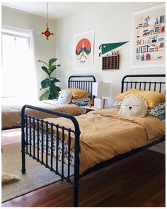 Boy And Girl Shared Bedroom, Kids Bedroom Boys, Boy Toddler Bedroom, Boys Bedroom Decor, Toddler Rooms, Shared Rooms, Boy Room, Bedroom Ideas, Kids Rooms