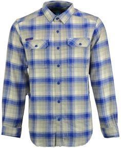 Columbia Men s Kansas Jayhawks Flare Gun Long Sleeve Flannel Button Up  Shirt Kansas Jayhawks, Columbia 8acf1cfee8