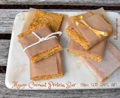 The 38 Best Homemade Protein Bars You Can Ever Make Paleo Protein Bars, Paleo Bars, Coconut Protein, Protein Bar Recipes, Coconut Bars, Healthy Recipes, Paleo Ideas, Scd Recipes, Healthy Eats