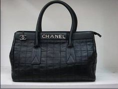 Chanel Large Lambskin Shopper Tote Bag Black