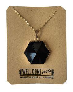 Hexagonal Crystal Pendant Necklace