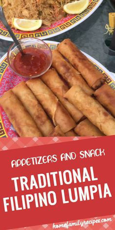 Traditional Filipino Lumpia This is a traditional Filipino dish. It is the Filipino version of the egg rolls. It can be served as a side dish or as an appetizer. Lumpia Recipe Filipino, Filipino Egg Rolls, Asian Recipes, Ethnic Recipes, Guam Recipes, Easy Filipino Recipes, Pancit Recipe, Shanghai Food, Recipes