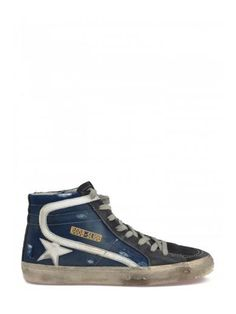GOLDEN GOOSE Golden Goose Deluxe Brand Cotton And Leather Sneakers. #goldengoose #shoes #https: