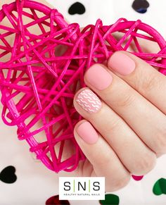 Color #130   #valentinesdaynails #vdaynails #heartnails #pinknails #snsnails #sns #mysns #ilovesns #dippowdernails