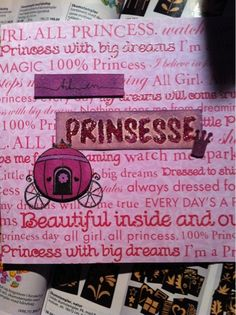 Handmade card for a princess.