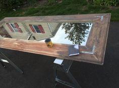 DIY große schiefe Bodenspiegel, diy, Wanddekor, Holzbearbeitung Projekte
