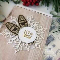 Ahh, winter is here! What better time to play with the gorgeous Alpine Adventure stamp set. It is perfect for Christmas and all things sn. Christmas 2019, Christmas Crafts, Christmas Decorations, Xmas, Alpine Adventure, Winter Is Here, Winter Cards, Tis The Season, Stampin Up Cards