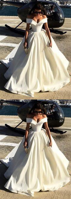 satin wedding dresse