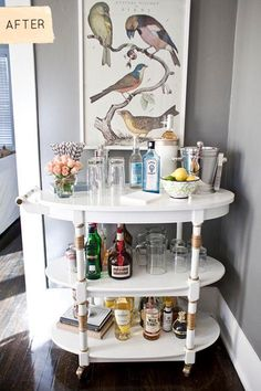 DIY Furniture  : DIY Bar Cart Makeover