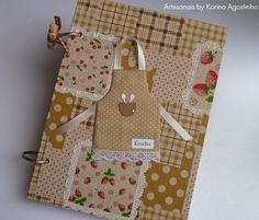 Caderno de receitas/recipe's notebook