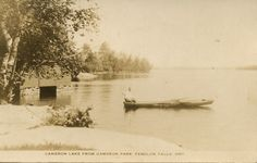 RPPC of Cameron Lake (from Cameron Park) - Fenelon Falls, Ontario
