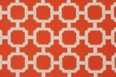 Mill Creek Hockley - Terrace Printed Polyester Outdoor Fabric in Mandarin $8.95 per yard