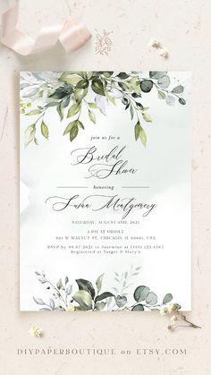 Bridal Shower Invitation Wording, Free Wedding Invitation Templates, Watercolor Wedding Invitations, Floral Wedding Invitations, Wedding Invitation Cards, Wedding Stationery, Digital Invitations, Free Wedding Cards, Wedding Planning