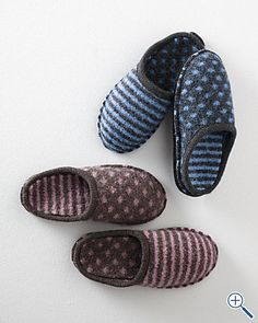 Haflinger Shirley Dot and Stripe boiled wool Slippers - these are favorites of mine!