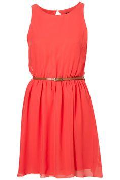 Short Coral Bridesmaid Dress
