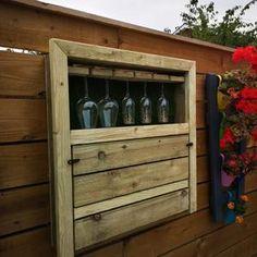 The Henry Garden Bar | Etsy Outdoor Garden Bar, Diy Outdoor Bar, Party Outdoor, Lilly Garden, Gin And Prosecco, Drop Down Table, Pressure Treated Timber, Wall Bar, Wooden Garden