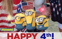 Happy 4th of July from Minions #snapchat