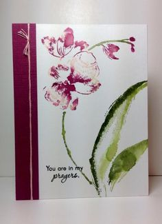 Gentle Whisper: Penny Black, watercolor, by beesmom - Cards and Paper Crafts at Splitcoaststampers