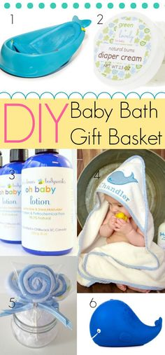 DIY Baby Bath Gift Basket These unique items will be a hit at any baby shower babyshowergift babybath babygifts personalizedbaby DIY Baby Bath Gift . - Bayb About Baby Bath Gift, Bath Gift Basket, Girl Gift Baskets, Baby Shower Gift Basket, Diy Baby Gifts, Best Baby Shower Gifts, Unique Baby Gifts, Baby Shower Themes, Shower Ideas