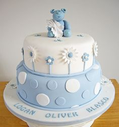 Logans Christening Cake by Chaos Cakes (Emma), via Flickr