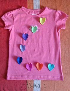 Hearts t shirt,camiseta con corazones.
