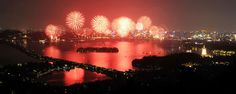 Fireworks glam up the annual West Lake Exposition! Hangzhou, West Lake, Asia Travel, Fireworks, Serenity, China, Celestial, Explore, Sunset